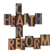 Health care reform crossword — Stock Photo