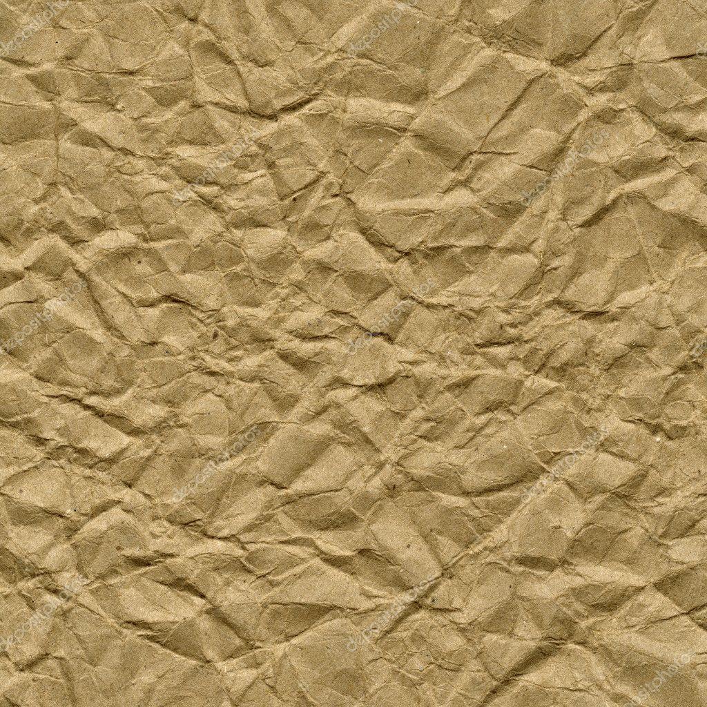 皱棕色包装纸张纹理