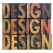 Design - vintage wood typography — Foto Stock
