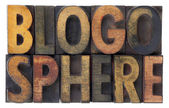 Blogosphere - vintage wood types — Stock Photo