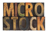 Microstock - vintage wood type — Stock Photo