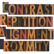 Typography of design principles - CRAP — Stock Photo #2980246