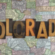 Vintage Colorado map — Stock Photo