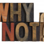 Warum nicht? Vintage-Buchdruck-Holz-Art — Stockfoto
