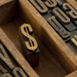 Dollar - vintage letterpress wooden type — Stock Photo #3056554