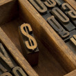 Dollar - vintage letterpress wooden type — Stock Photo