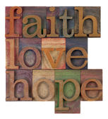 Faith, love and hope — Stock fotografie