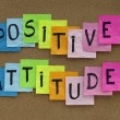 Positive attitude reminder - Stock Photo