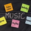 Stock Photo: Traditional aspects (elements) of music
