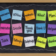 Foto Stock: Thank you in different languages