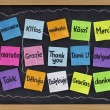 Royalty-Free Stock Photo: Thank you in different languages