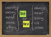 True or false words — Stock Photo