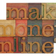 Make money online - Foto de Stock