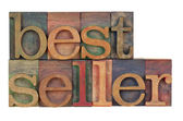 Bestseller - wood type — Stock Photo