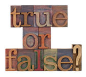 True or false? — Stock Photo