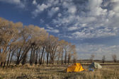 Spring camping in Wyoming — Stock Photo