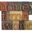 Money, time and work — Foto Stock
