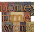 Money, time and work — Stock fotografie