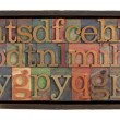 Alphabet in rustic wooden box — Stock Photo #3347500