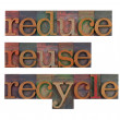 Stock Photo: Reduce, reuse and recycle - resource conservation