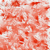 Red splashes on canvas — Stock Photo