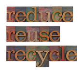 Reduce, reuse and recycle - resource conservation — Stock Photo