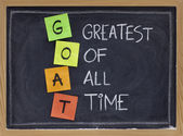 Greatest of all time - GOAT acronym — Stock Photo