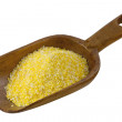 Yellow corn grits — Stock Photo