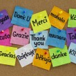 Thank you in different languages - 图库照片