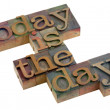 Today is the day! — Stock Photo