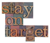 Stay on target — Stock Photo