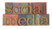 Sociala medier — Stockfoto
