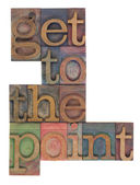 Get to the point — Stock Photo