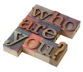 Who are you ? — Stock Photo