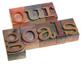 Our goals concept — Stock Photo
