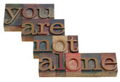 You are not alone — Stock Photo
