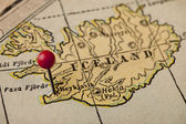 Iceland and Reykjavik map — Stock Photo