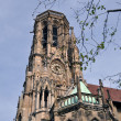 Johanneskirche Stuttgart Feuersee — Stock Photo