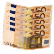 Fifty euros — Stock Photo