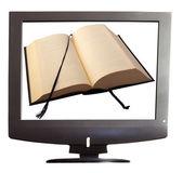 Book on tv — Stock Photo