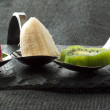 Fruits on spoon - Stockfoto