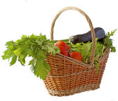 Vegetables basket — Stock Photo