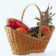 Stock Photo: Basket of fruits
