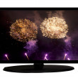 Fireworks on tv — Stock Photo