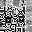 Seamless uncolored patterns - Imagen vectorial