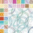 Royalty-Free Stock Vector Image: Seamless retro patterns