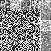 Seamless uncolored patterns — Stock Vector