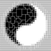 Símbolo del Yin y el yang — Vector de stock