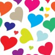 Stock vektor: Seamless heart pattern