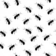 Royalty-Free Stock Vector Image: Seamless ant pattern